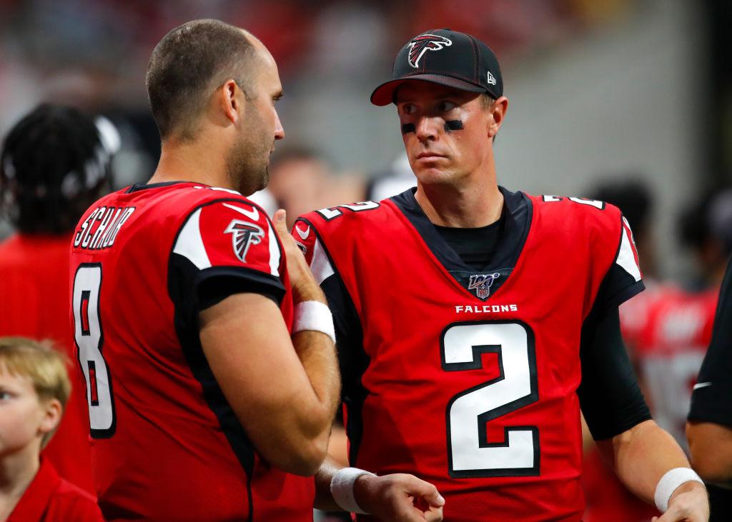 With quarter back Matt Ryan out injured, Matt Schaub will start for the Atlanta Falcons.