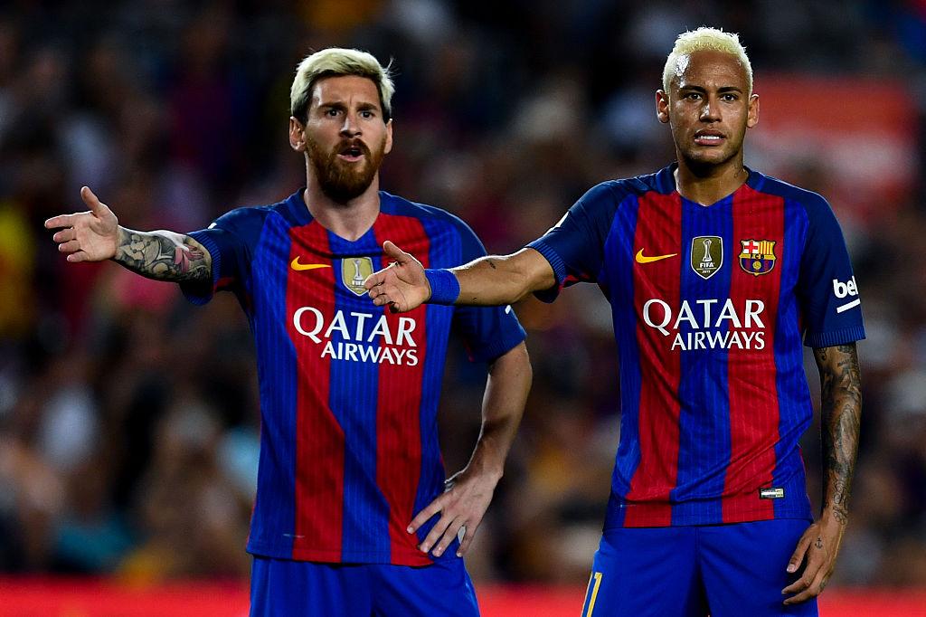 Lionel Messi and Neymar is Barcelona jerseys