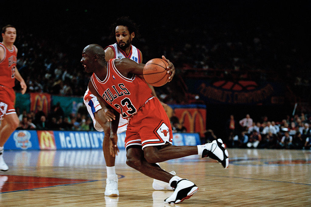 Chicago Bulls star Michael Jordan always wore his lucky shorts.