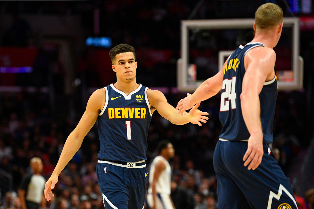 It took more than a year for Michael Porter Jr. (left) to make his NBA debut, but he could be the Nuggets secret weapon in 2019-20.