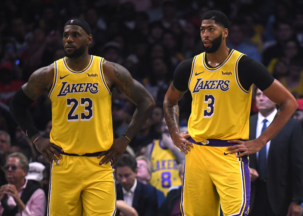 Lakers forwards LeBron James and Anthony Davis
