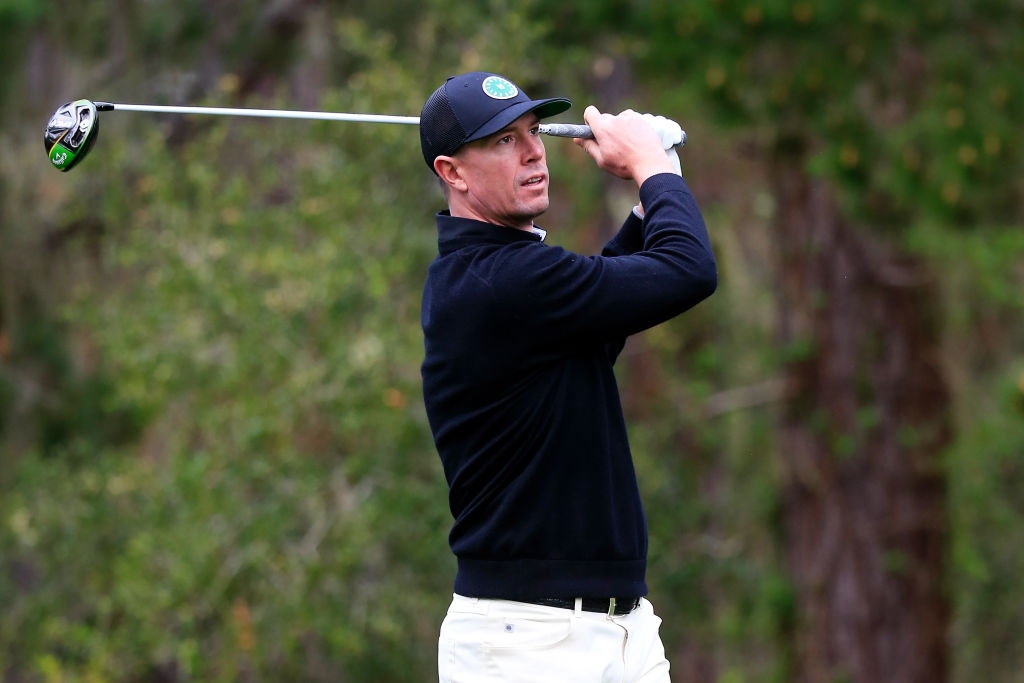 NFL player Matt Ryan plays golf at the AT&T Pebble Beach Pro-Am