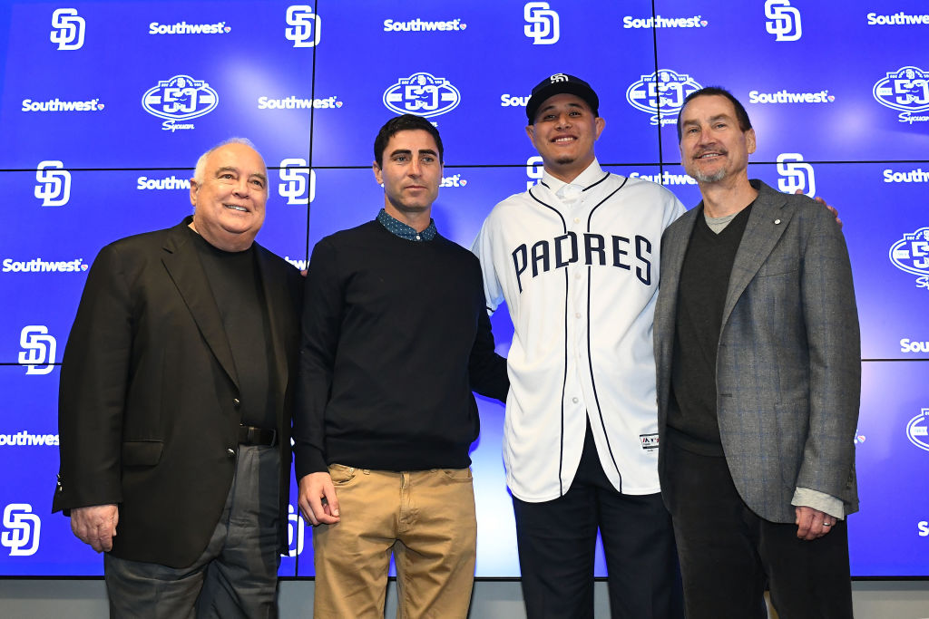 Padres owner Ron Fowler (left) sounded a bit delusional when discussing the 2019 season.