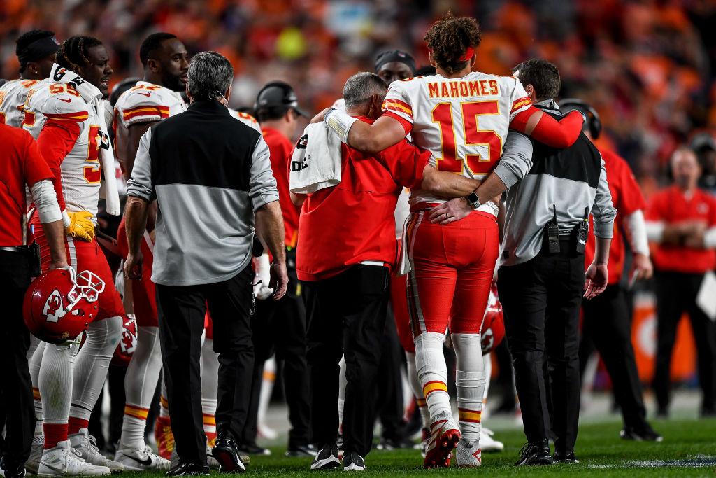 Kansas City Chiefs quarterback Patrick Mahomes was injured against the Denver Broncos.