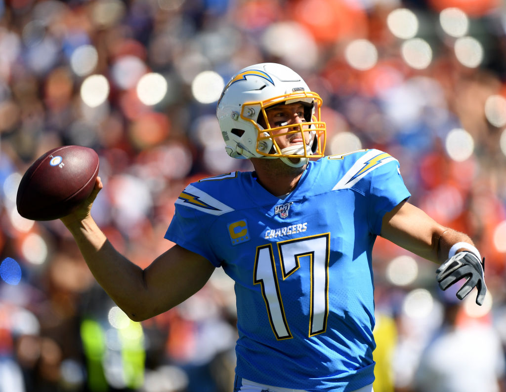 Philip Rivers #17 of the Los Angeles Chargers