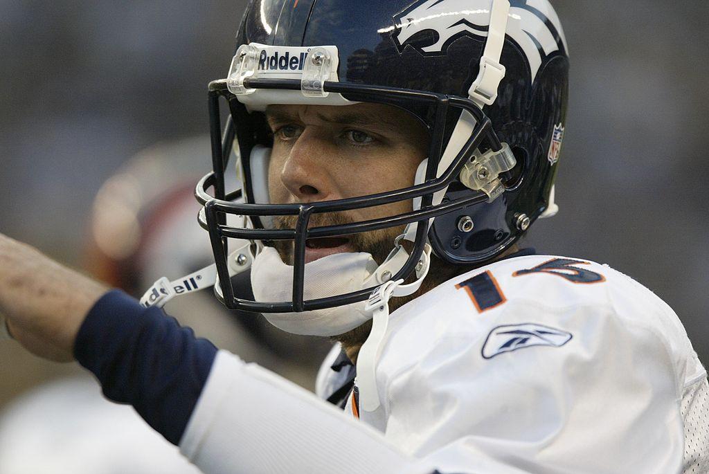 Quarterback Jake Plummer of the Denver Broncos on the sideline in 2006