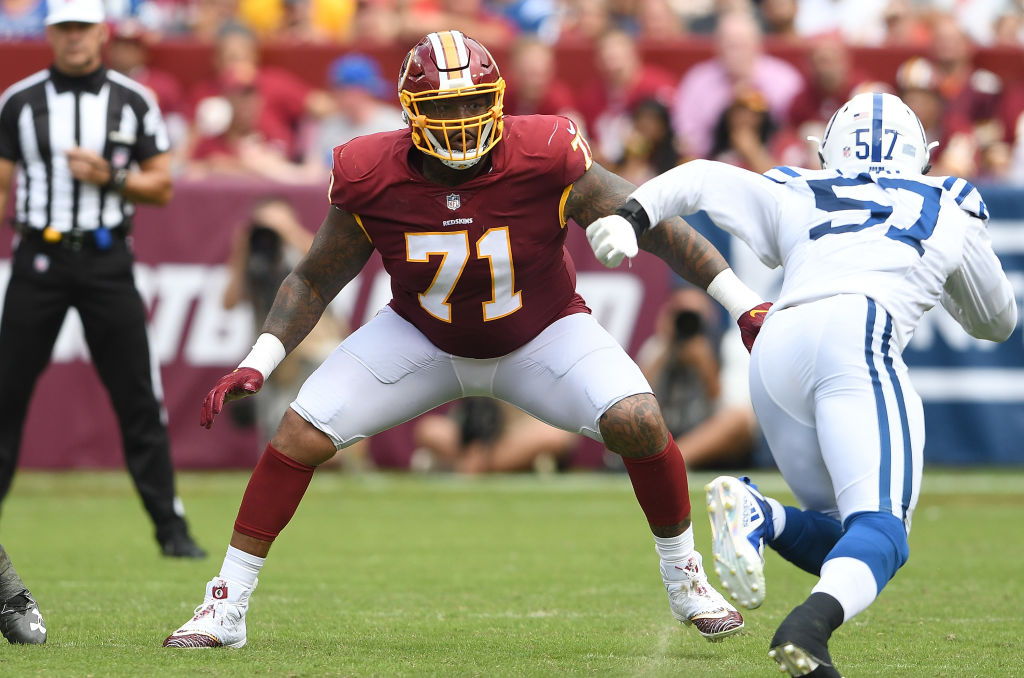 Redskins offensive tackle Trent Williams