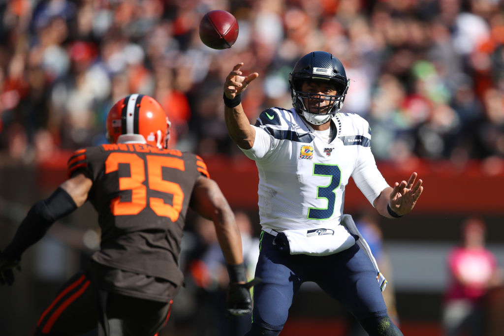 Russell Wilson led Seattle to a 32-28 win over the Cleveland Browns on Sunday