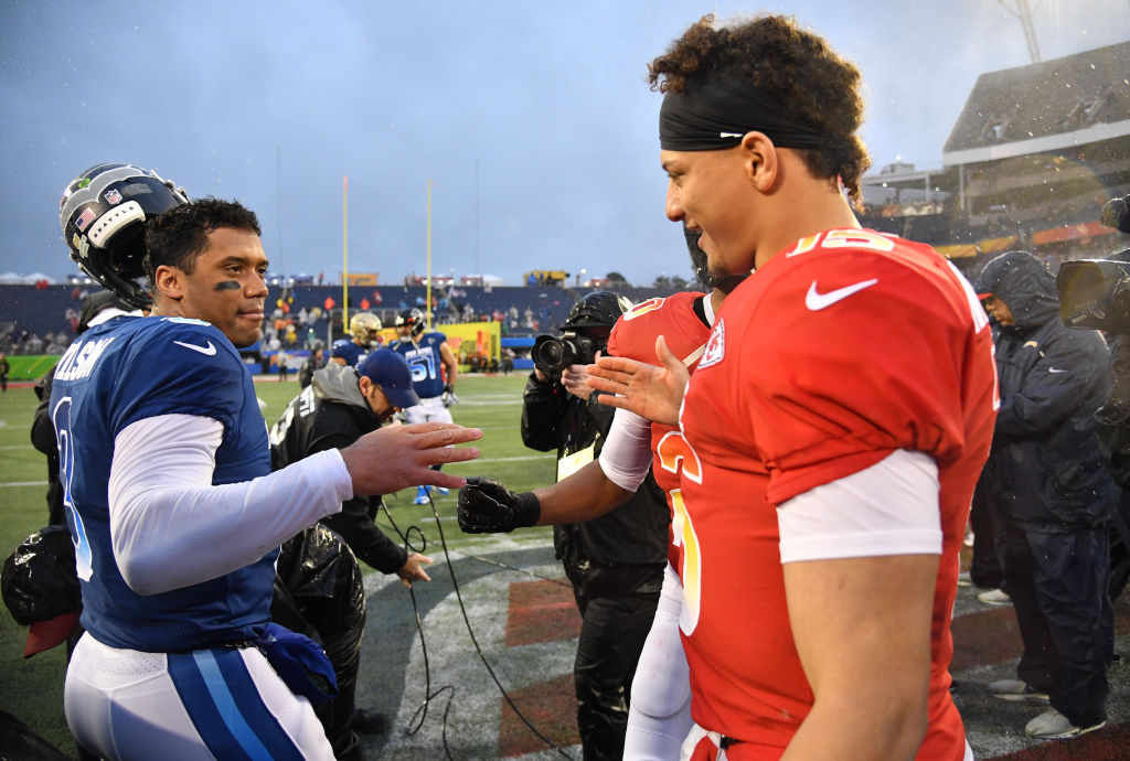 Seahawks Russell Wilson and Chiefs Patrick Mahomes
