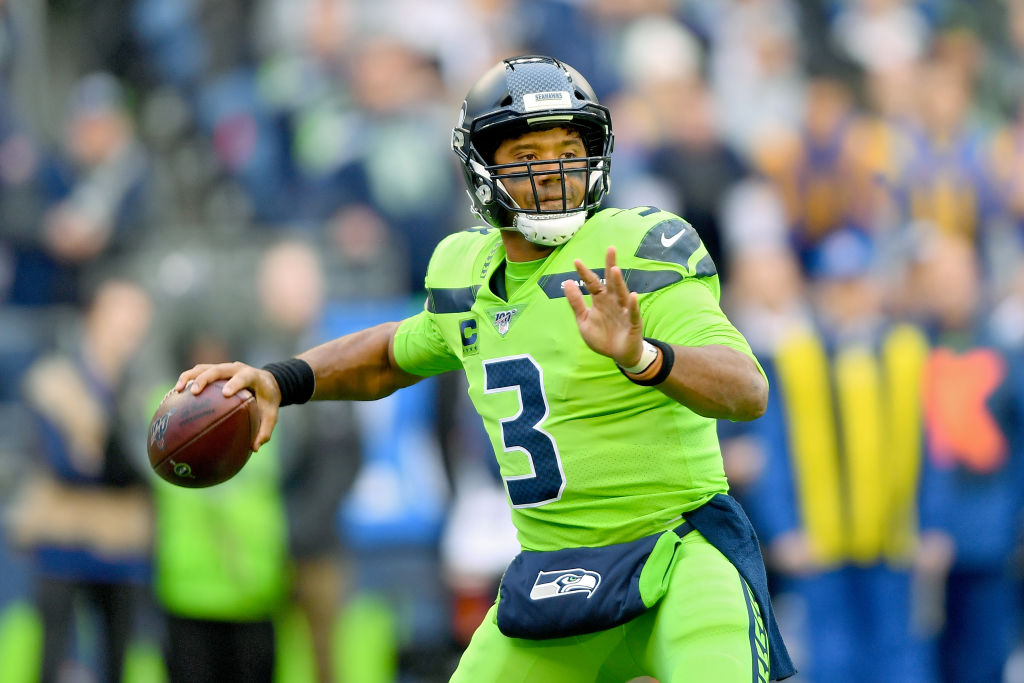 Russell Wilson #3 of the Seattle Seahawks