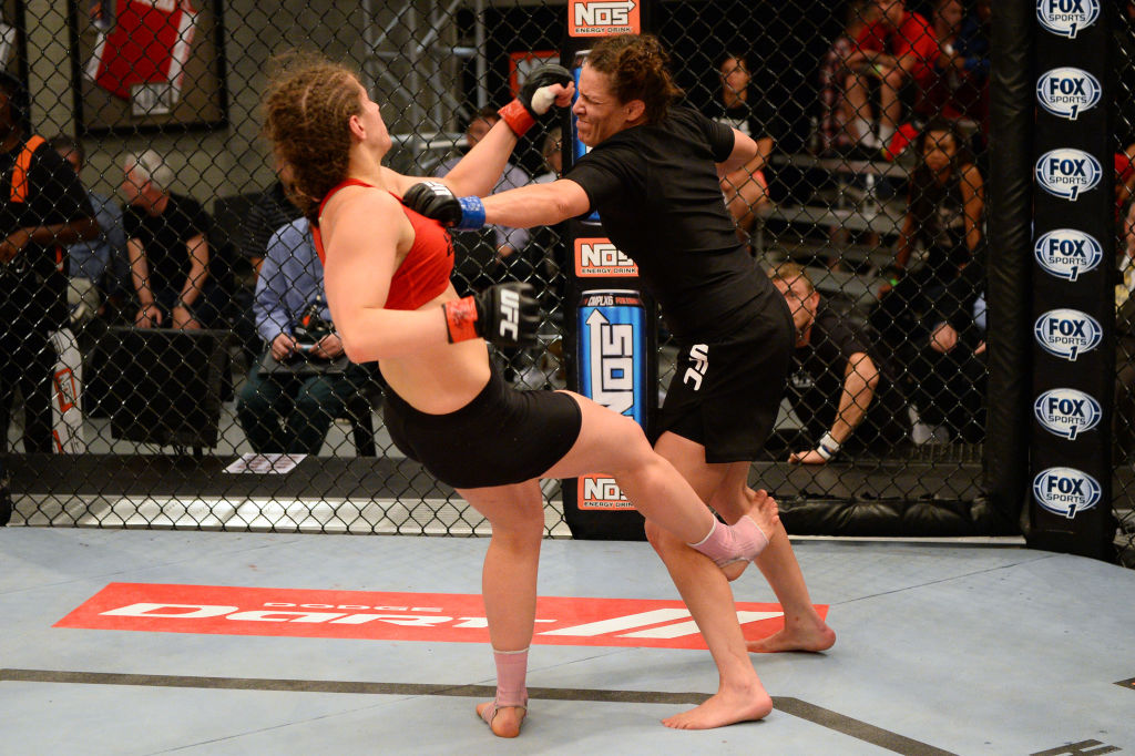 Sarah Moras (left), Tara LaRosa (right) and most UFC fighters rely on skill instead of bulk to win fights, which a Russian MMA fighter learned the hard way.