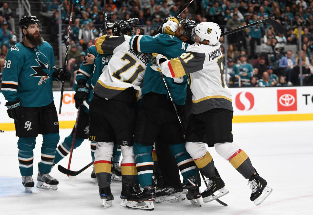 The Golden Knights and Sharks have plenty of bad blood