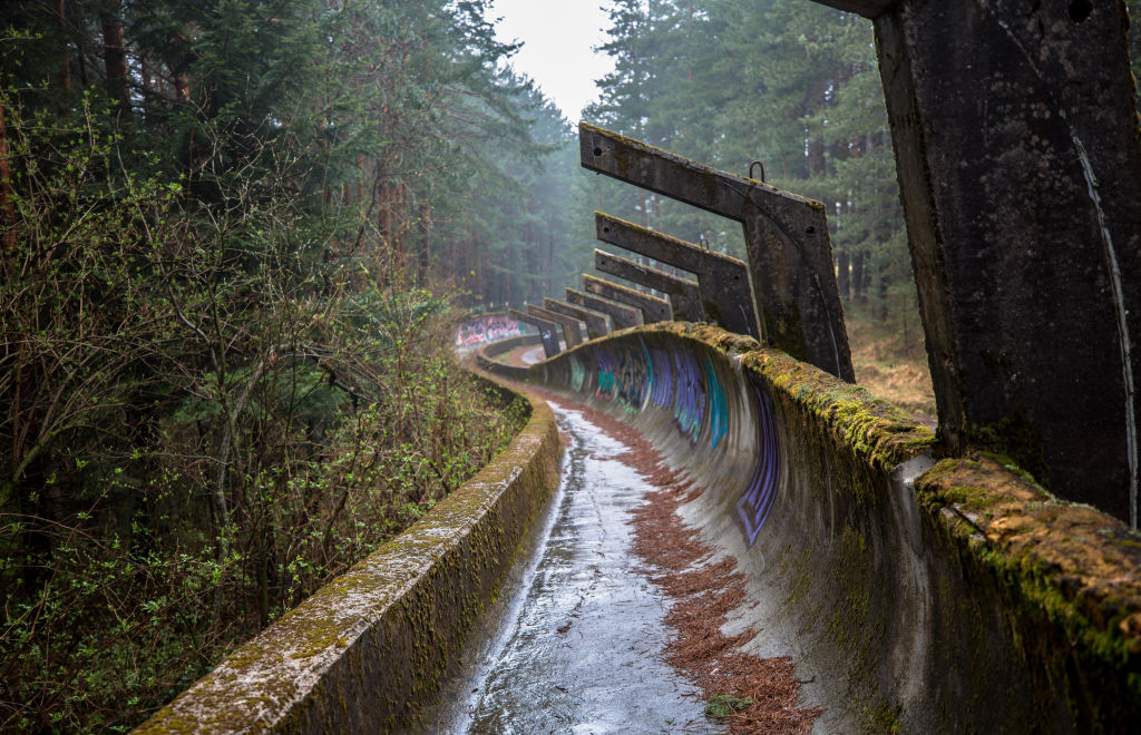 Bobsled track in Sarajevo's abandoned Olympic venue