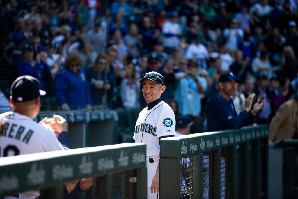 Former Seattle Mariners outfielder Ichiro Suzuki, now an instructor with the team