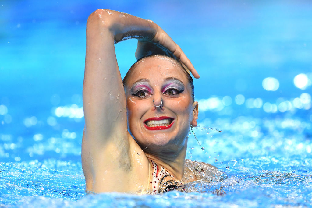 Linda Cerruti of Italy competes in the Duet Free Final