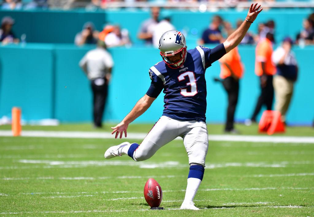 Stephen Gostkowski #3 of the New England Patriots