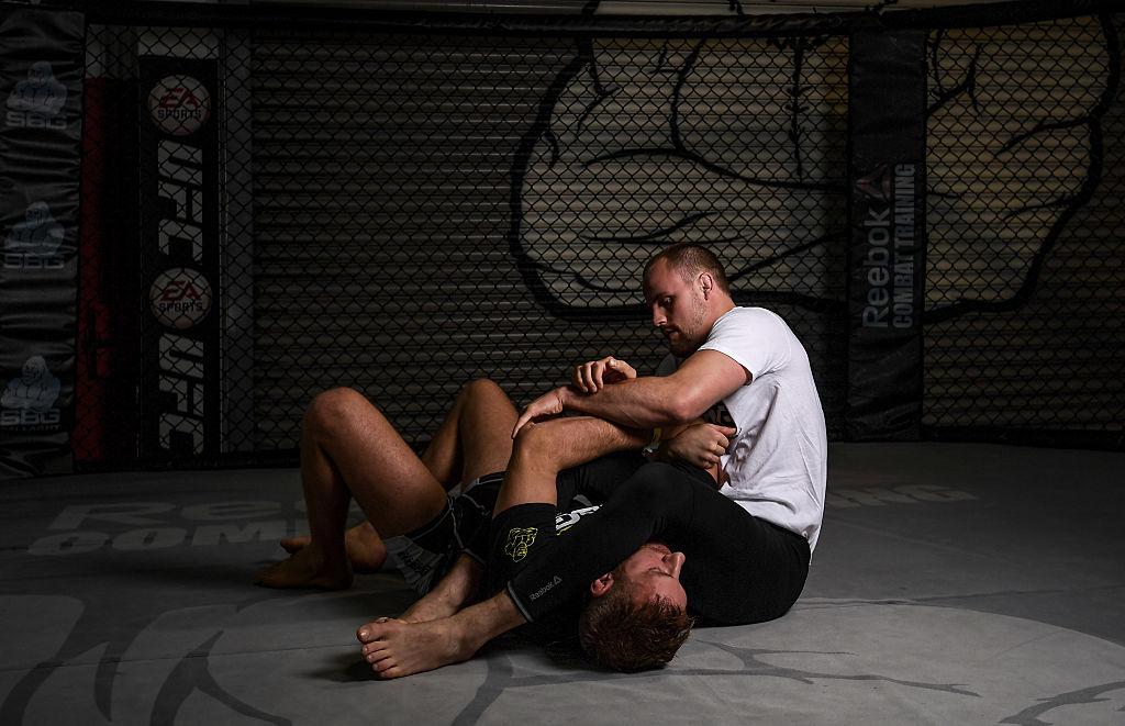 UFC fighter Gunnar Nelson wrestles at the SBG Gym in Dublin