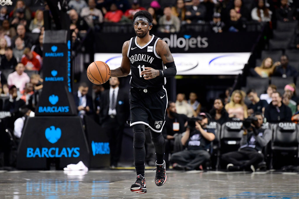 Nets point guard Kyrie Irving