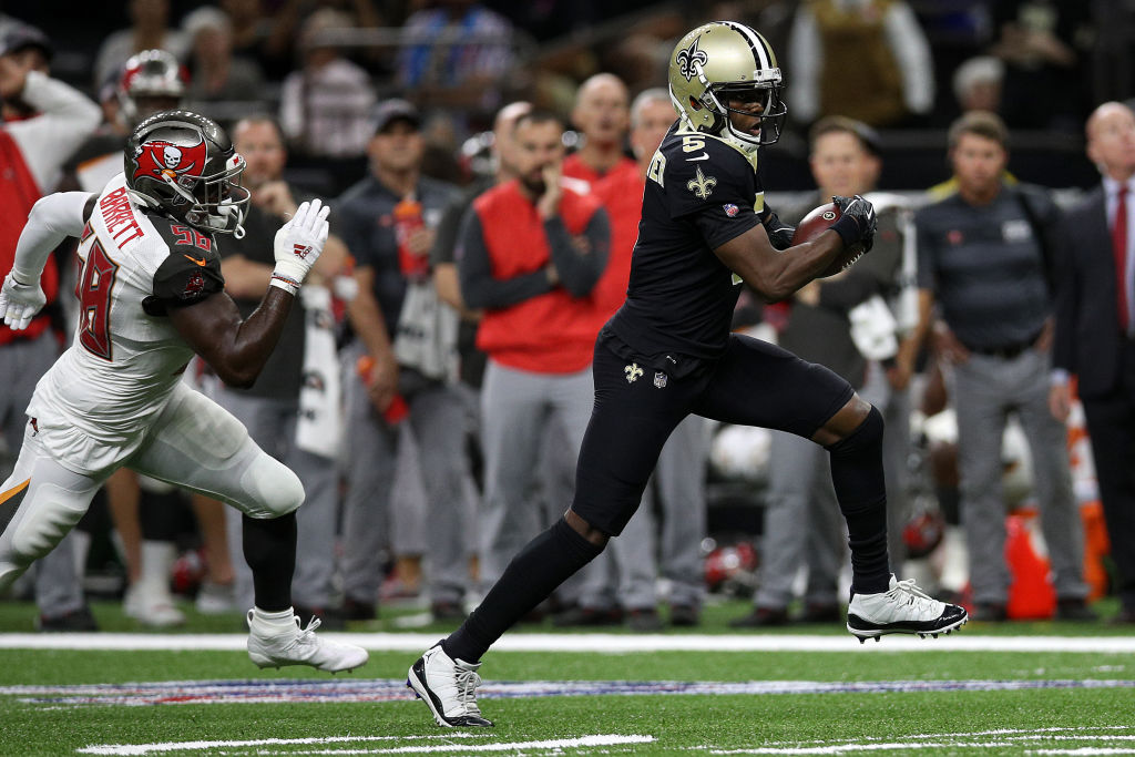 The New Orleans Saints beat the Tampa Bay Buccaneers in NFL action.