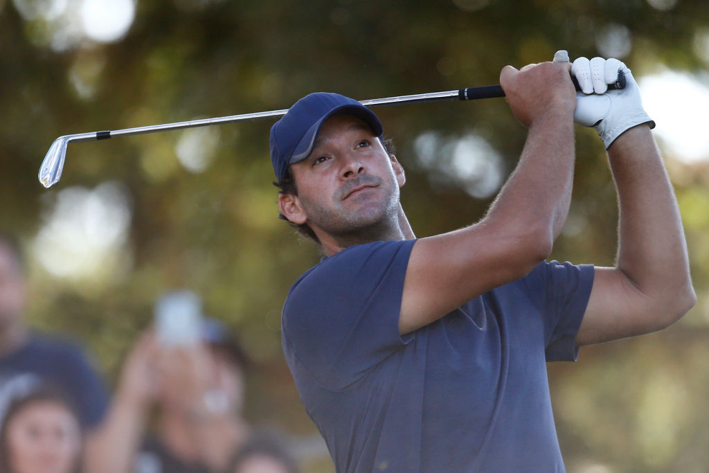 Tony Romo golfs during the second round of the 2019 Safeway Open