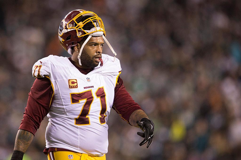 Redskins offensive lineman Trent Williams