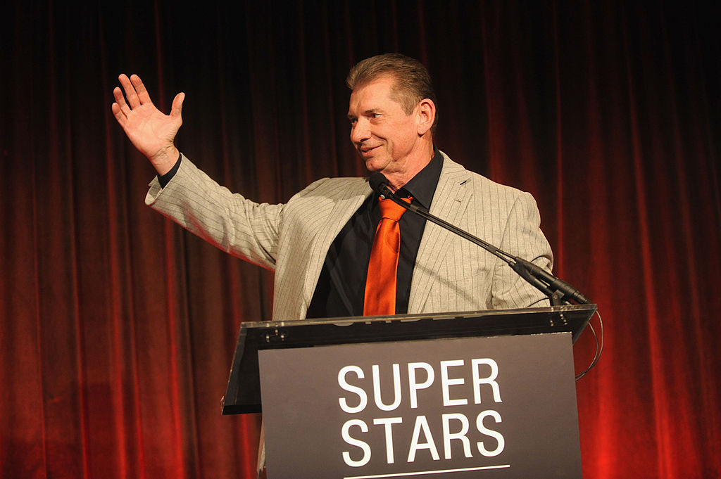 Vince McMahon attends WWE Superstars for Sandy Relief