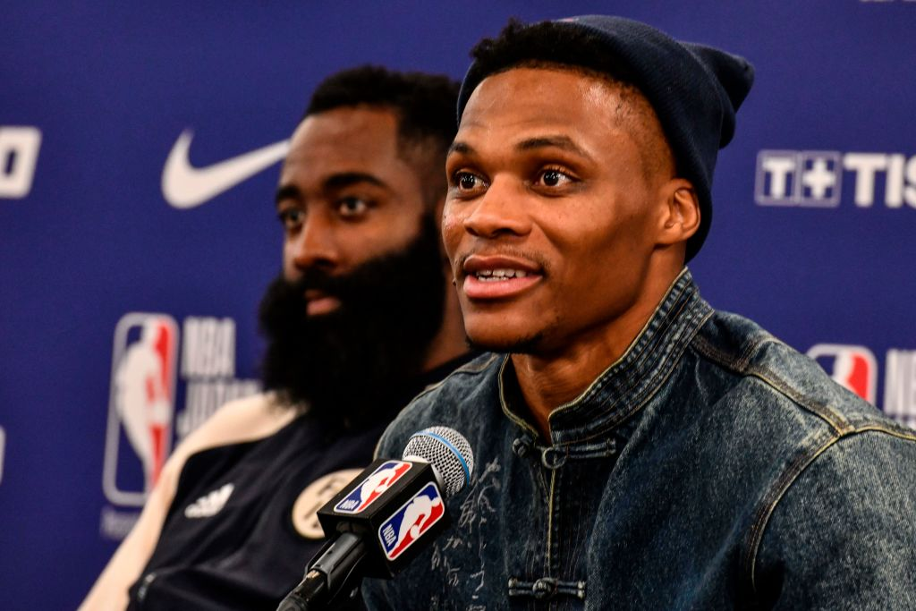 Russell Westbrook feels pretty good about reuniting with James Harden on the Rockets.