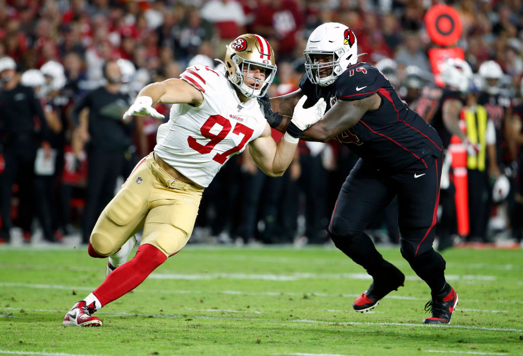 49ers rookie Nick Bosa has a legitimate chance to win NFL Defensive Player of the Year.