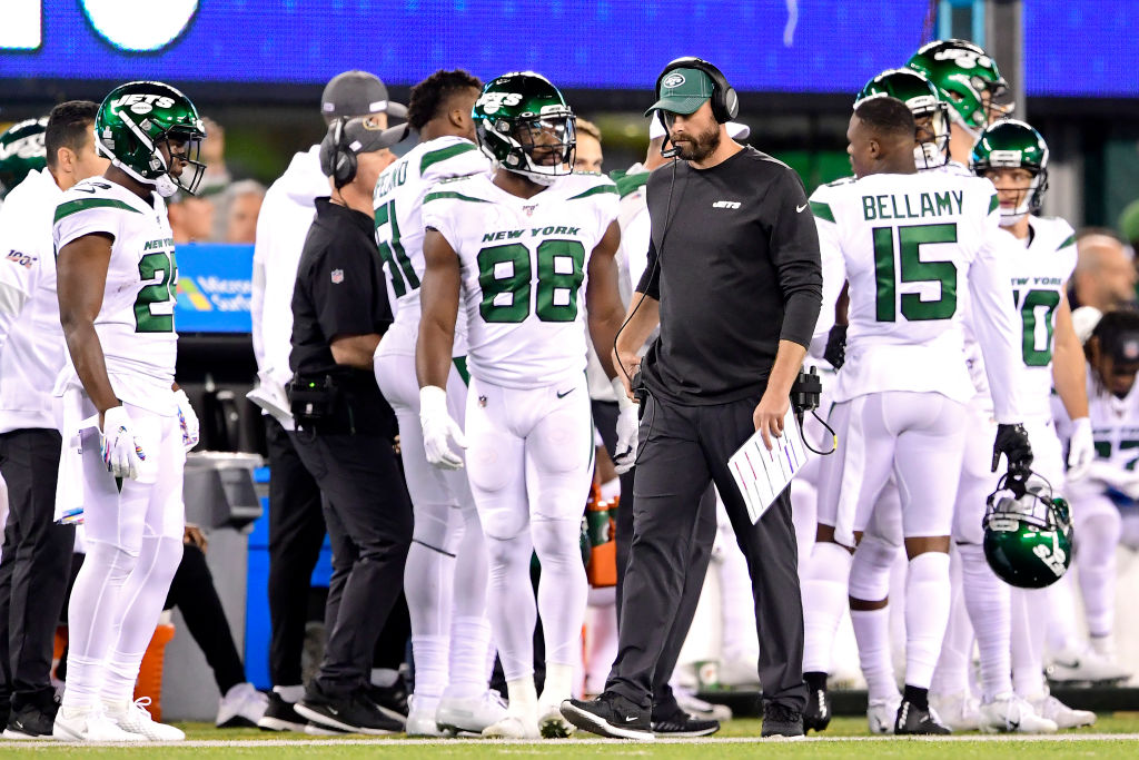 New York Jets head coach Adam Gase has struggled to develop quarterback Sam Darnold.