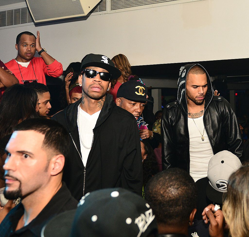 Allen Iverson and Chris Brown attend the BET Hip Hop Awards 2012