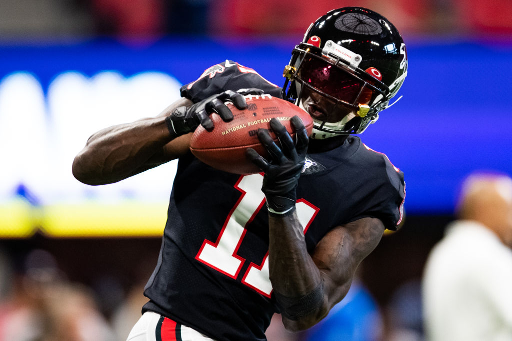 Falcons receiver Julio Jones is practically synonymous with 100-yard receiving games.