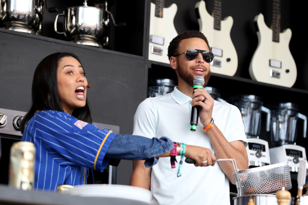 Ayesha Curry is joined by husband Golden State Warriors' Stephen Curry as she prepares a chicken and waffles recipe