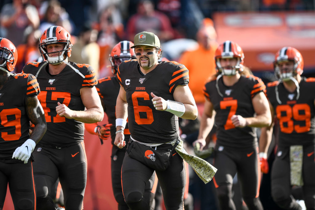 Why did Cleveland Browns quarterback Baker Mayfield shave his mustache?