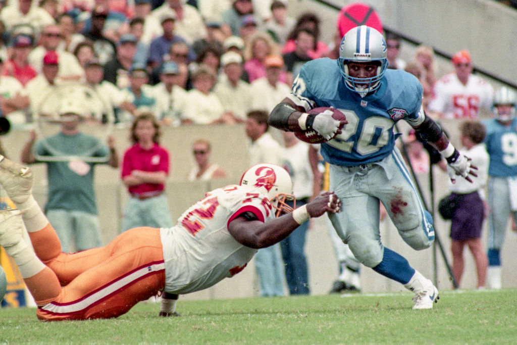 We already knew Barry Sanders was probably the greatest running back in NFL history, but some new stats bolster that claim.