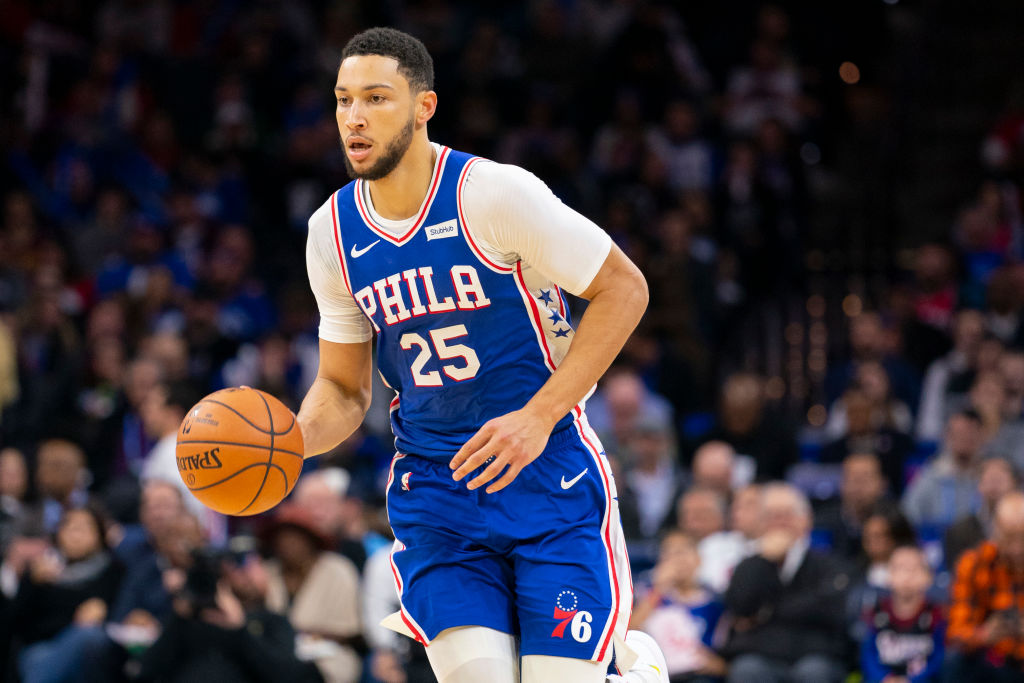 Ben Simmons finally hit the first three-pointer of his NBA career Wednesday night
