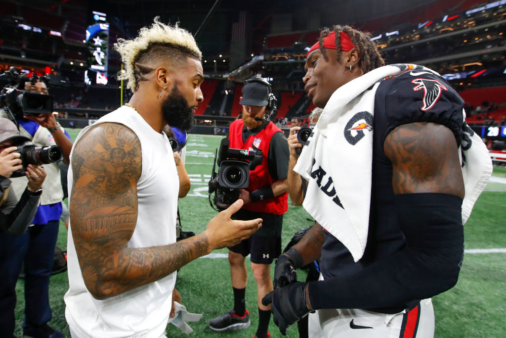 Wide receivers Odell Beckham Jr. and Julio Jones