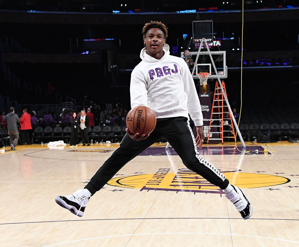 LeBron James' son Bronny is already a basketball star.