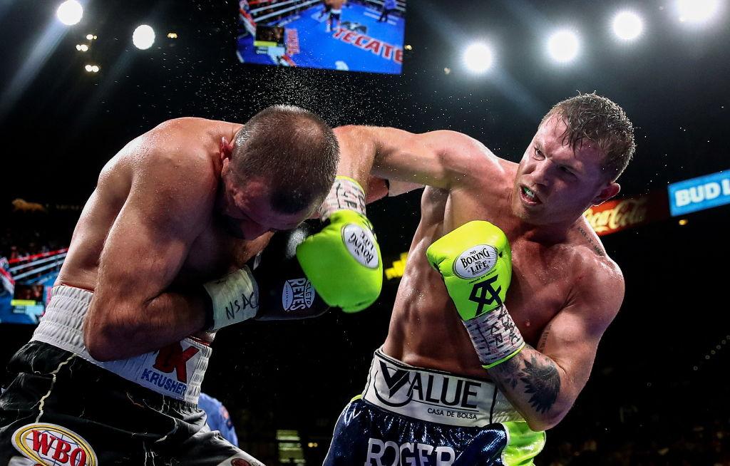 """Saul """"Canelo"""" Alvarez earned a knockout win over Sergey Kovalev"""