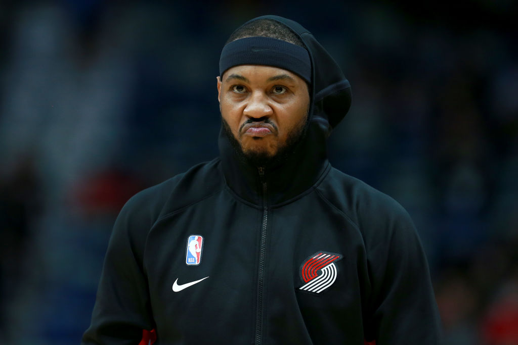 Carmelo Anthony had his ups and downs on Tuesday night, as expected after a long layoff