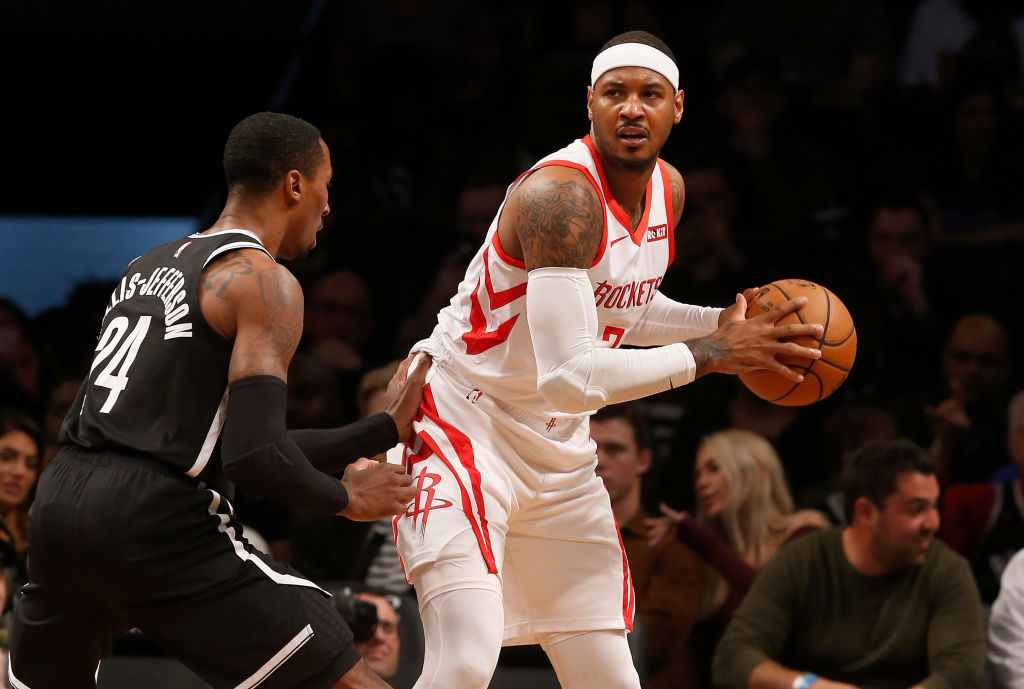 Carmelo Anthony was never a great defender, but he got even worse when he joined the Houston Rockets.