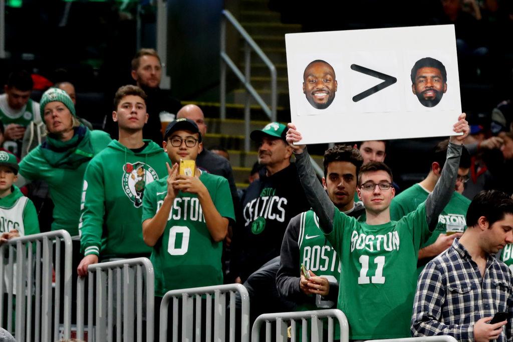 Boston Celtics fans had the last laugh on Wednesday night