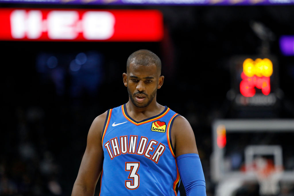 Thunder point guard Chris Paul