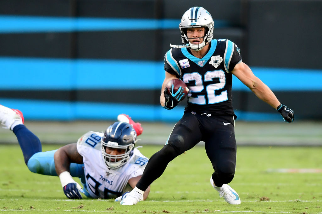 Panthers running back Christian McCaffrey