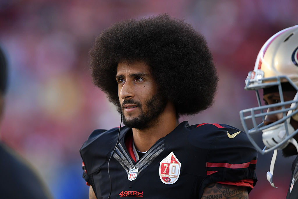 Former NFL quarterback Colin Kaepernick