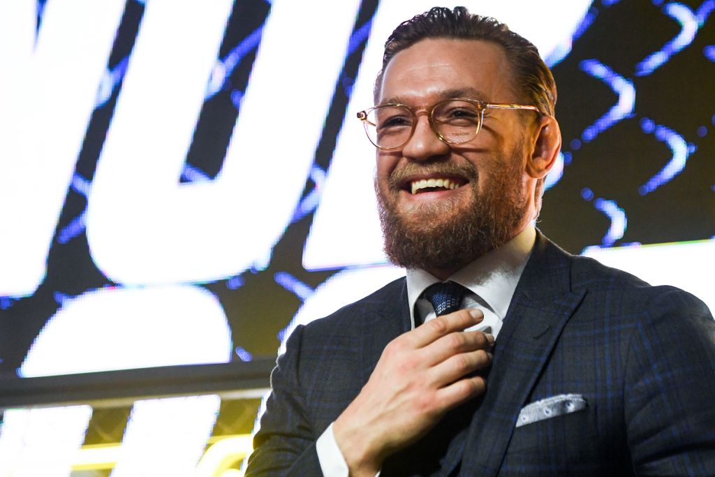 Conor McGregor at a press conference.
