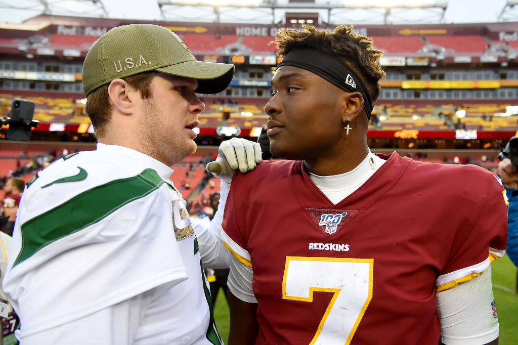 Sam Darnold's New York Jets defeated Dwayne Haskins' Washington Redskins on Sunday.