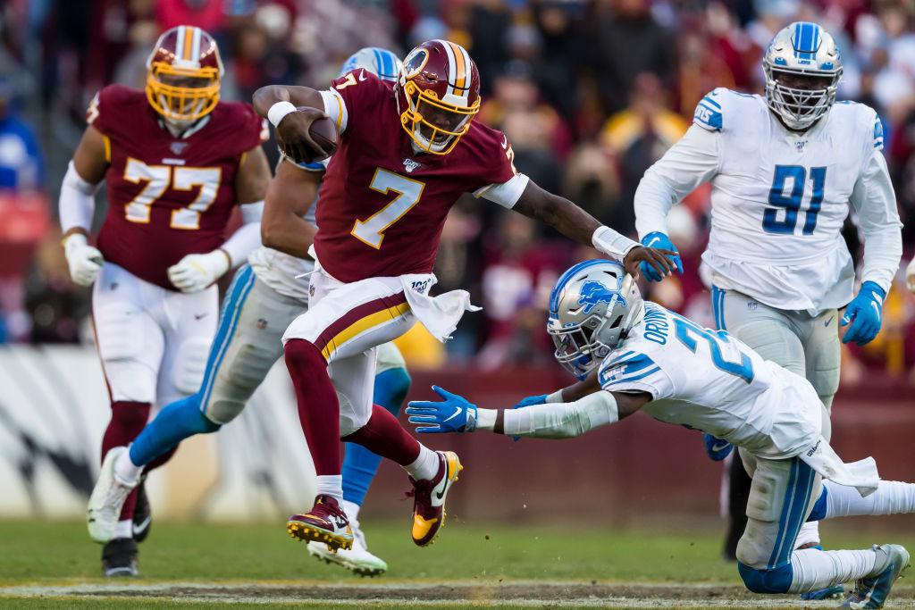 Washington Redskins quarterback Dwayne Haskins earned his first NFL win as a starter on Sunday.