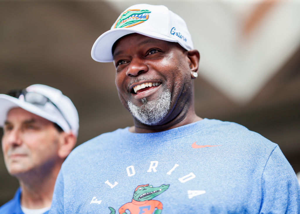 Emmitt Smith looks on before the start of the Florida Gators game against the Auburn Tigers in 2019