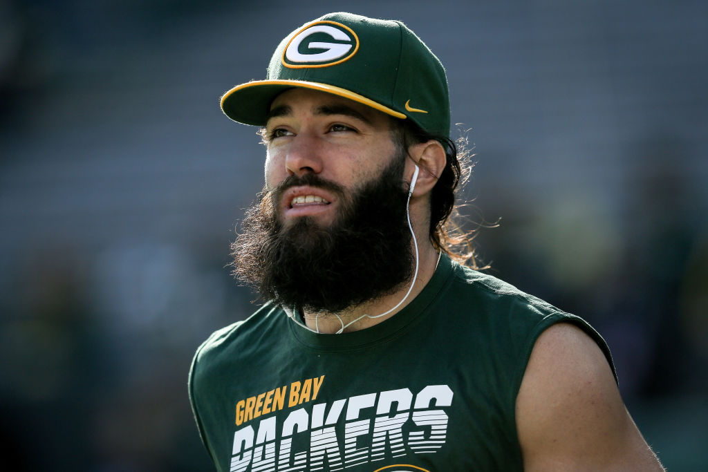 Jake Kumerow of the Green Bay Packers warms up before a game