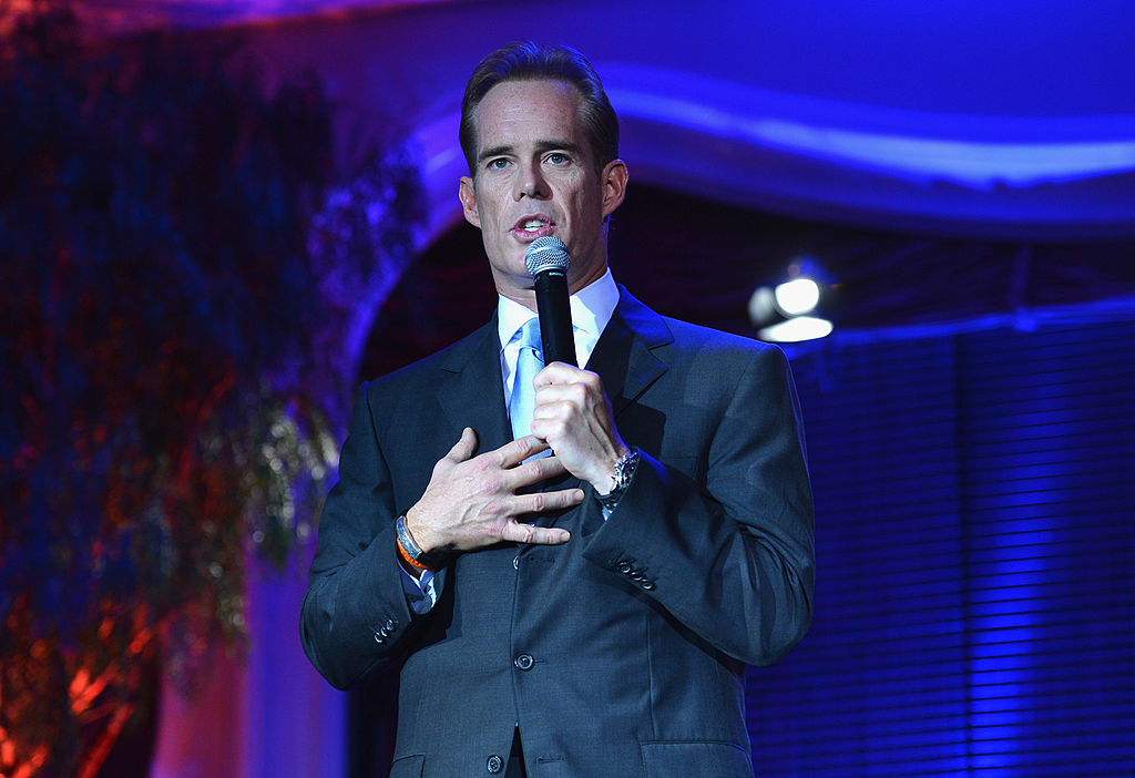 Joe Buck speaking at a charity event